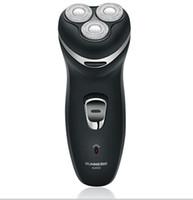 EMS gratuito de alta Hombres calidad Negro lavable 3 Jefes máquina de afeitar eléctrica recargable Razor recortador # K08128