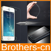 Wholesale 0 MM H Tempered Glass Screen Protector Flim for Iphone s s c plus Samsung S4 S5 S6 note LG G3