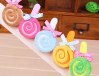 Wholesale Candy Colors Lollipop Shape Pet Hairpin Cute Pet Decoration Supplies bq