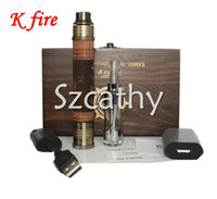 Electronic Cigarette Set Series  K Fire E Cig kit 3.3-4.8V Variable Voltage Spinner Battery K Fire Wood E Cigarette Start kits with Protank Atomizer 2014 Hot Kamry K Fire
