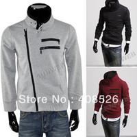 Cheap Men's hoodies Winter Cool Long Sleeve dust Sweat Zipper Design 3 Colors M,L