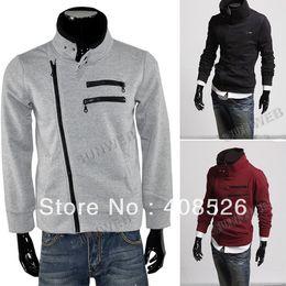 Wholesale Men s hoodies Winter Cool Long Sleeve dust Sweat Zipper Design Colors M L XL XXL