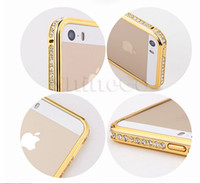 Wholesale Bling Crystal Diamonds Rhinestone Perfume Series Metal Plastic in Cell Phone Bumper Case Cover With Retail Box For iPhone S