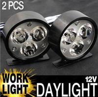 led off road - 2pcs V V Black Case LED Round Flood Waterproof LED Off Road Work Light Lamp For Car Truck WD X4 Black DRL Daytime Running Lights
