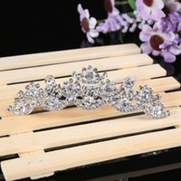 Tiaras&Crowns Rhinestone/Crystal  New 2014 Crystal Tiaras Comes with Comb Headpieces Bridal Hair Accessories Headband Jewelry Gift Prom Party Sell Well Fashion Hair Comb