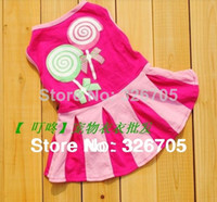 Wholesale HOT Fashion Puppy Apparel Small Pet Dog Clothes dog Dress pet products cute dog clothing wear