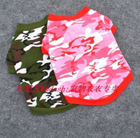 T Shirts Fall/Winter Chirstmas Puppy Camouflage short sleeve t-shirt pet products clothes dog apparel clothing pet dog summer undershirt vest