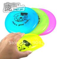 Wholesale Pet dog training Frisbee standard plastic Frisbee S M L size dog toys