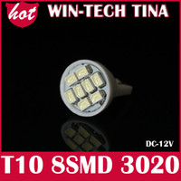 Wholesale FreeShipping EMS DHL white T10 smd super bright Auto led car led lighting W5W Parking Led Door Light