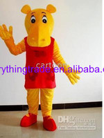 Mascot Costumes Unisex Animal 2014 Hot sale River Horse Pirate mascot Costume Fancy Dress Suit Outfit Paprty costume Free Shipping