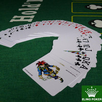 Wholesale have colors can choose wine red and black plastic playing cards poker stars hot selling dezhou Poker