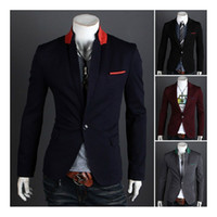Men Blazer Lapel Neck S5Q Men's Casual Top Design Sexy Slim Fit Blazers Coats Suit Jackets AAACMI