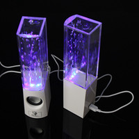 Other Universal Computer 2014 Colorful Led Dancing Water Speakers USB Fountain Show Music Speaker for PC Mobilephones V545W