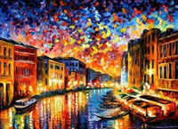Wholesale On Sale European Style Unfinshed DIY Printed Cross Stitch Oil Painting Venice Landscape Home Textile K08166
