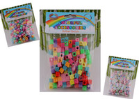 8-11 Years om pendant - 8 off Mixed style Rainbow loom kits Mixed color rubber band pendant DIY accessories Square letter style in each bag DROP SHIPPING OM