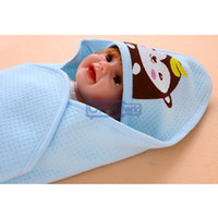 Cotton / Bamboo Fiber Hotal Adults Free Shipping High Quality Blue Cute Cotton Soft Baby Blanket Baby Quilt