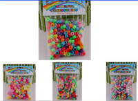 Wholesale 8 off Mixed style Colored beads style Rainbow loom kits Mixed color rubber band pendant DIY accessories in each bag DROP SHIPPING OM