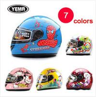 Wholesale High grade children full face kids helmet children warm winter helmet