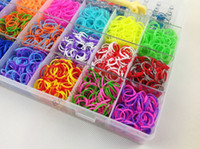 Wholesale Loom Bands Kits Sets Plastic Loom Refills Twistz Bandz Kits Colors bands clips loom hook charms kit