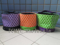 Wholesale Special And Lovely Quatrefoil Printing Microfiber Halloween Holiday Bucket