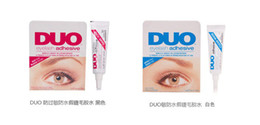 Wholesale New World s best selling adhesive DUO WATER PROOF FALSE EYELASH ADHESIVE EYELASH GLUE Dark White Eyelash Adhesive G Makeup Tool White Black