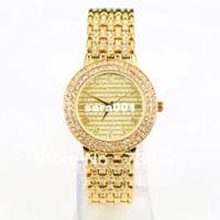 Women's Water Resistant Round Wholesale-Luxury Full diamond women watch with crystals Stainless steel japan movement Branded quartz watch Bracelet Wristwatch