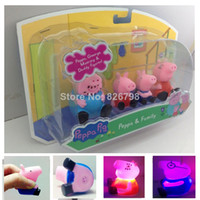 Wholesale Peppa Pig Family Toys Set DADDY amp MUMMY Pepa George Pig Family Toys Set Baby kids Gift set With Retail Box