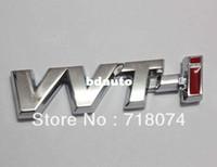 Emblems Metal Toyota Wholesale-Free shipping Car rear chrome Decal Emblem Sticker auto 3D Logo badge toyota vvt-i vvti Racing motorbike parts fashion style