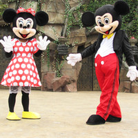 Unisex athletic clothing wholesale - mickey minnie Mascot Costume party clothing mickey costume minnie mascot fancy dress party birthday gift clothes