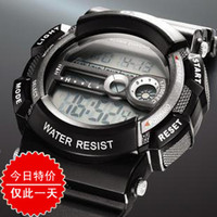 Complete Calendar china (mainland) orange Ots AUDI fashion waterproof electronic watch sports table men's child led watch
