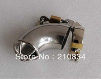 Wholesale New Design Stainless Steel Cock Cage with Locker Penis Cage Lockable Cock Ring Penis Ring Sex Product Sex Toys for Men