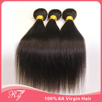 Wholesale human hair bundles RY extensions inch in stock hair natural virgin brazilian straight hair AAAAAA natural color very soft