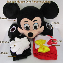 Wholesale Adult Size Mickey Mouse Mascot Costume Cartoon Character Costumes Brand New Fancy Dress Mickey Clothing