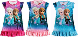 Wholesale 2014 new frozen Princess girl s nightgown cartoon princess dress children s dresses size S M L XL to choose