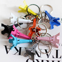 Wholesale Paris Eiffel Tower Keychain Eiffel Tower set candy Color Gifts and crafts Keychain Zakka decoration Fashion Accessories
