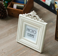 photo frame wood white European style Picture Frame 3 in Carve patterns designs woodwork antique do old Family Photo Frame White Wood Photo Frame