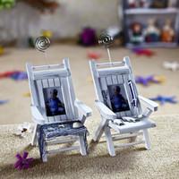 Cheap Mediterranean Style Beach Chairs 2pcs set,Wooden handmade Photo Frame, Card Holder, Mobile Phone Holder, desktop Ornament BK255