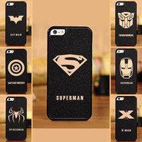 Wholesale The Avengers Cell Phone Accessories Cases Covers with transformers x man bat man spider man superman series For iphone s s