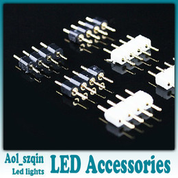 100pcs 4 pin plug connector for 10mm rgb led strip light 5050 5630 led strip lighting accessories