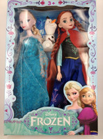 Wholesale Direct line Frozen Elsa Anna OLAF Joint Moveable Platic doll dolls INCH toys with box box