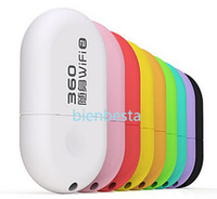 other Wireless Soho 360 Mini Portable Wifi Dongle Wireless Router with Built-in PIFA Antennas (Assorted Colors) free shipping