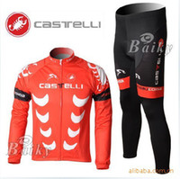 Wholesale 2010 Cervelo team the latest version of the red scorpion long sleeved jersey suit Spring Thin
