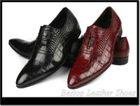 Wholesale Bestop formal men shoes men leather business dress alligator leather men dress shoes oxfords
