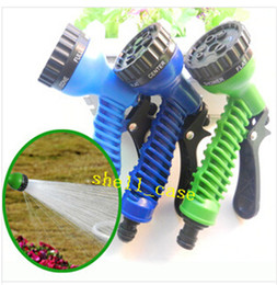 online shopping NEW Pattern Function Green Blue Water Spray Nozzle Water Gun Sprayers Nozzles For Expandable Garden Hoses for Car Wash Water The Flowers