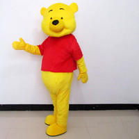 Wholesale Cartoon Character Costume Bear - Mascot Costumes Winnie The Pooh Cartoon Character Clothing Adult Size Animal Apparel Bear Costumes Drop Shipping