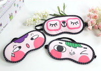 Wholesale Novelty cartoon sleep eyeshade relieve fatigue eye mask Eye protection Adult PC pack