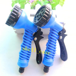 online shopping HOT Pattern Function Green Blue Water Spray Nozzle Water Gun Sprayers Nozzles For Expandable Garden Hoses for Car Wash Water The Flowers