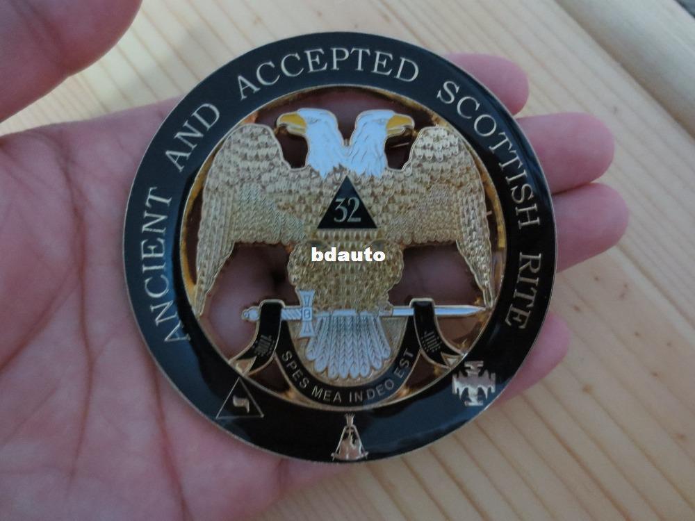 Wholesale-Hot sell Masonic Car Badge Emblems N11