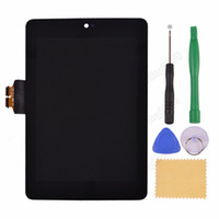 Wholesale New LCD Display Touch Screen Digitizer Assembly Replacement with tools For ASUS Google Nexus Tablet