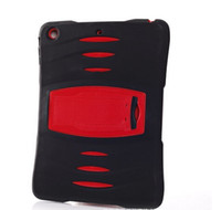 Wholesale 2014 New Design Military Heavy Duty Hybrid Silicone PC Case Cover For Ipad Air